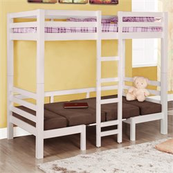 Coaster Twin Bunk Bed in Chocolate