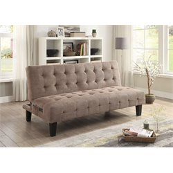 Coaster Convertible Sofa with USB and Power Ports in Taupe