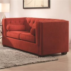 Coaster Cairns Tufted Loveseat in Crimson