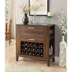 Coaster Wine Bar Cabinet in Dark Walnut