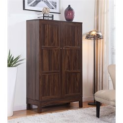 Coaster Home Bar Cabinet in Dark Walnut
