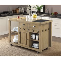Coaster Kitchen Cart in Weathered Natural