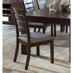 Coaster Dining Side Chair in Rustic Pecan