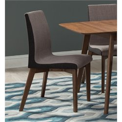 Coaster Upholstered Dining Side Chair in Dark Gray