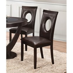 Coaster Upholstered Dining Side Chair in Cappuccino
