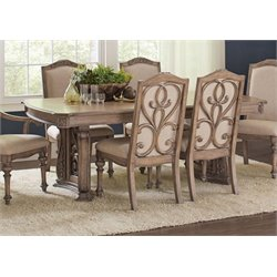 Coaster Dining Table in Antique Linen