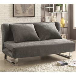 Coaster Convertible Sofa in Gray