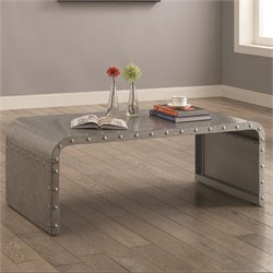 Coaster Coffee Table in Galvanized