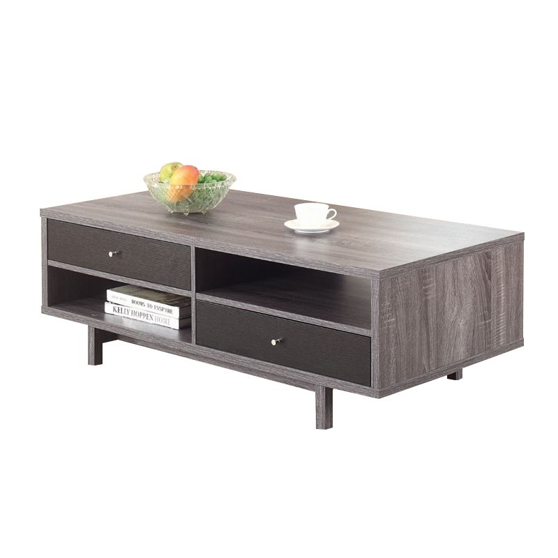Coaster Storage Coffee Table In Antique Gray And Black 705388