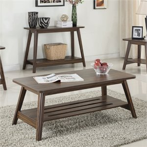 Coaster Coffee Table in Chestnut