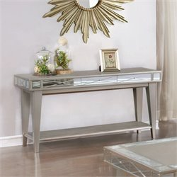 Coaster 1 Shelf Console Table in Mercury