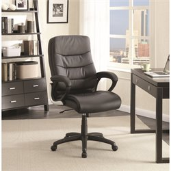 Coaster Plush Upholstered Office Chair in Black