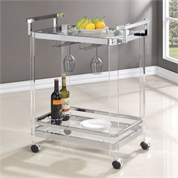 Coaster Serving Cart in Silver