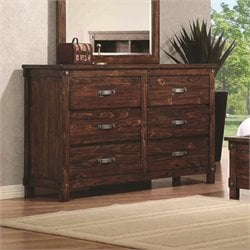 Coaster Noble 6 Drawer Dresser in Rustic Oak