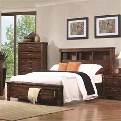 MER-1220 Coaster Noble Bookcase Bed in Rustic Oak