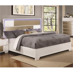 Coaster Havering Bed in Blanco and Sterling