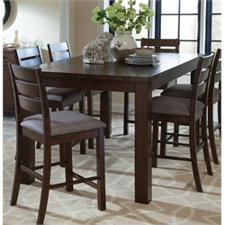 Coaster Counter Height Dining Table in Rustic Pecan