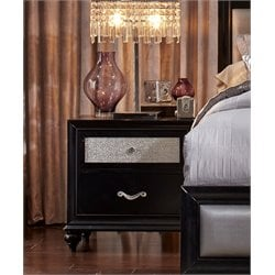 Coaster 2 Drawer Nightstand in Black
