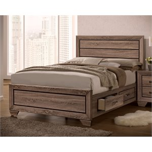 Coaster Panel Storage Bed in Washed Taupe