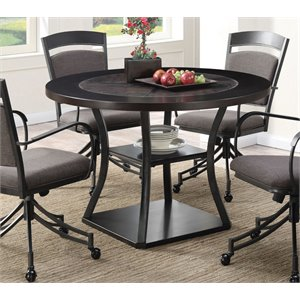 Coaster Round Dining Table in Brown