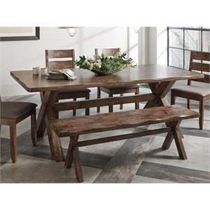 Coaster Dining Table in Knotty Nutmeg