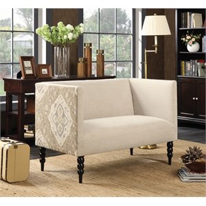 Coaster Loveseat in Beige and Black