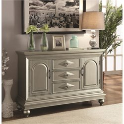 Coaster Accent Cabinet in Metallic Platinum