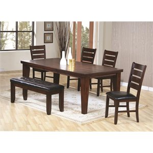 Coaster Imperial 6 Piece Dining Set in Rustic Oak