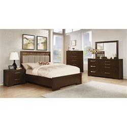 Coaster Berkshire 4 Piece LED Touch Lighting Panel Bedroom Set