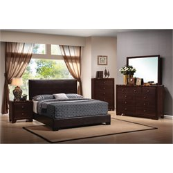 Coaster Conner 4 Piece Upholstered Platform Bedroom Set