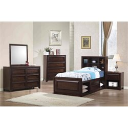 Coaster Greenough Twin Bookcase Storage Bedroom Set-AD
