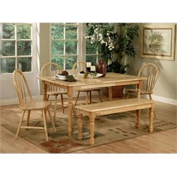 Coaster Damen 6 Piece Dining Set in Natural Wood