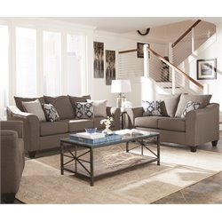 Coaster Salizar Flared Arm Sofa Set in Brown