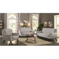 Coaster Baby Natalia 3 Piece Tufted Sofa Set