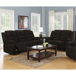 Coaster 2 Piece Reclining Sofa Set in Brown-DD