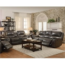 Coaster Wingfield Leather Reclining Sofa Set with USB Port