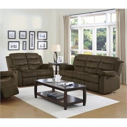 Coaster Rodman Sofa Set in Two Tone Chocolate