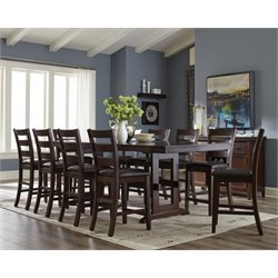 Coaster 5 Piece Counter Height Dining Set in Antique Tobacco