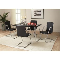Coaster Avram 5 Piece Dining Set in Black