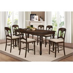 Coaster Hamilton Counter Height Extendable Dining Set