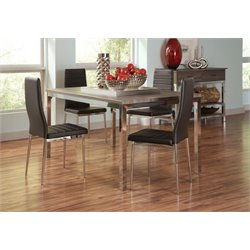 Coaster Eldridge 5 Piece Dining Set in Black and Weathered Gray