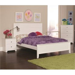 Coaster Ashton 3 Piece Full Panel Bedroom Set in White