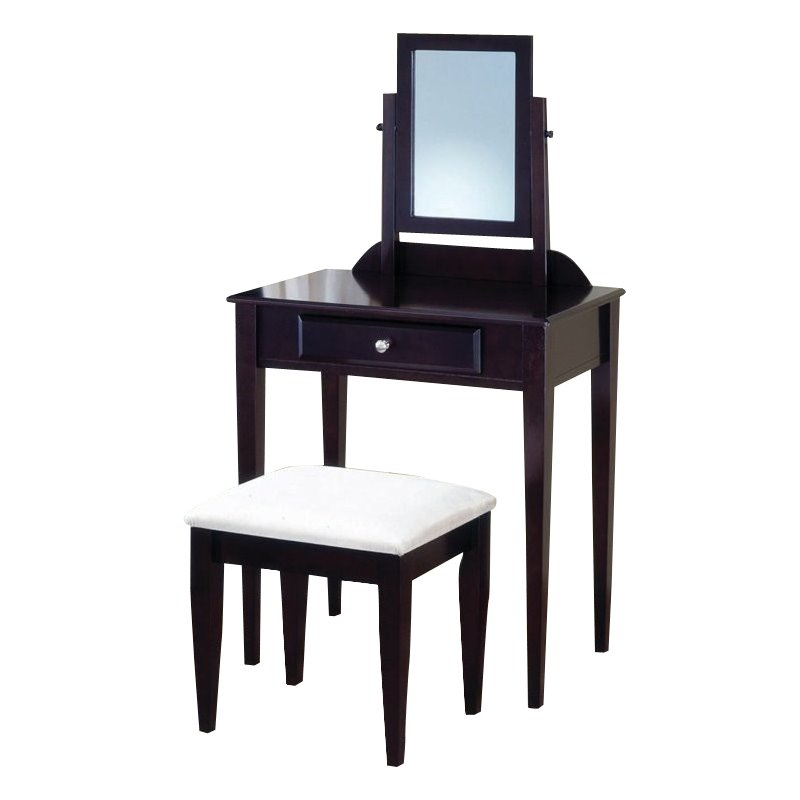 Coaster small cappuccino vanity set 300079 for Small vanity set