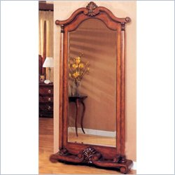 Coaster Standing Bevelled Grand Mirror in Brown