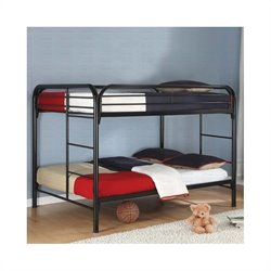 Coaster Rustic Black Metal Full over Full Bunk Bed