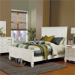 Coaster Classic Panel Bed in White Finish