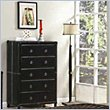 ADD TO YOUR SET: Coaster Danielle 5 Drawer Chest in Dark Brown Bycast-like Vinyl