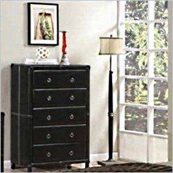 Coaster Danielle 5 Drawer Chest in Dark Brown Bycast-like Vinyl