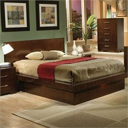 Coaster  Platform Bed in Light Cappuccino Finish - Queen