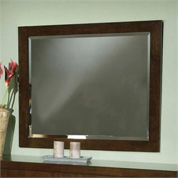 Coaster  Mirror in Light Cappuccino Finish
